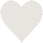 Peace Scallop Heart Card 4 Inch - 25/Pk