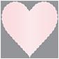 Rose Scallop Heart Card 4 Inch - 25/Pk