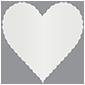 Silver Scallop Heart Card 4 Inch - 25/Pk