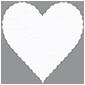 Linen Solar White Scallop Heart Card 4 Inch - 25/Pk