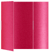 Pink Silk Gate Fold Invitation Style B (5 1/4 x 7 3/4) - 10/Pk