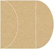 Grocer Kraft Gate Fold Invitation Style C (5 1/4 x 7 1/4)