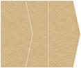Grocer Kraft Gate Fold Invitation Style E (5 1/8 x 7 1/8)