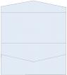 Blue Feather Pocket Invitation Style A4 (4 x 9) 10/Pk