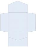 Blue Feather Pocket Invitation Style B2 (6 1/4 x 6 1/4) 10/Pk