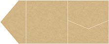 Grocer Kraft Pocket Invitation Style B9 (6 1/4 x 6 1/4)