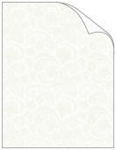On Sale:Translucent Beige Paisley Text 8 1/2 x 11<br>50/Pk