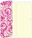 Nature Hot Pink Panel Invitation 3 3/4 x 8 1/2 (folded) - 10/Pk